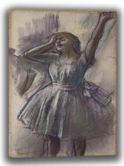 Degas, Edgar: Dancer Stretching. Fine Art Canvas. Sizes: A4/A3/A2/A1 (003742)